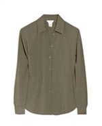 Washable silk shirt long sleeve w/ pockect